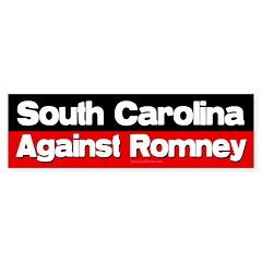 South Carolina Against Romney sticker