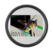Adopt a Stray Large Wall Clock