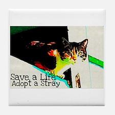 Adopt a Stray Tile Coaster