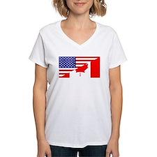 Canadian American Flag Shirt