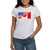 Canadian american flag Women's T-Shirt