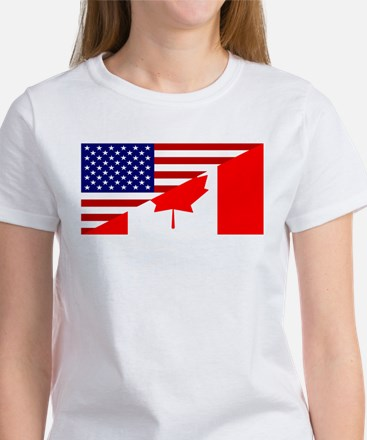 Canadian American Flag Women's T-Shirt