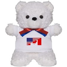 Canadian American Flag Teddy Bear