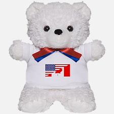 Canadian American Flag Teddy Bear