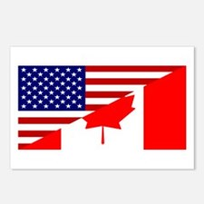 Canadian American Flag Postcards (Package of 8)