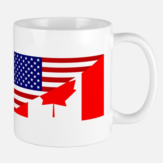Canadian American Flag Mug