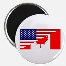 Canadian American Flag Magnet