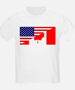 Canadian American Flag T-Shirt