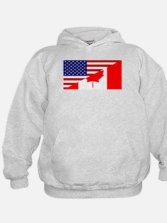 Canadian American Flag Hoodie