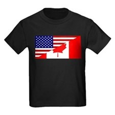 Canadian American Flag T