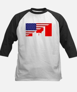 Canadian American Flag Tee