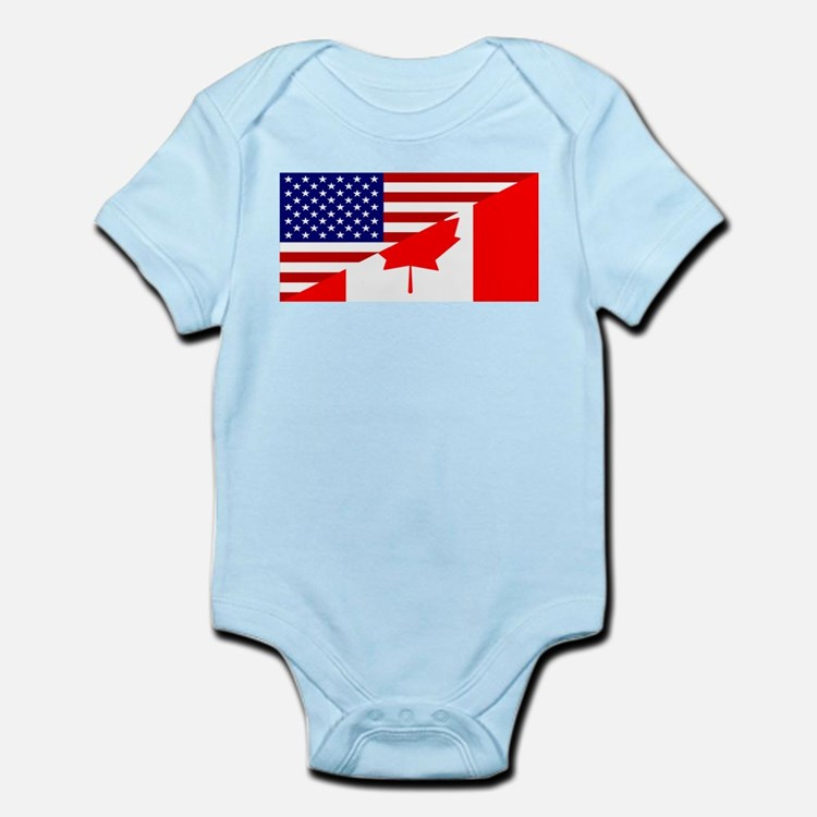 Canadian American Flag Infant Bodysuit