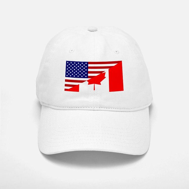 Canadian American Flag Baseball Baseball Cap