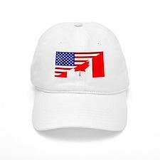 Canadian American Flag Baseball Cap