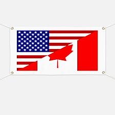 Canadian American Flag Banner
