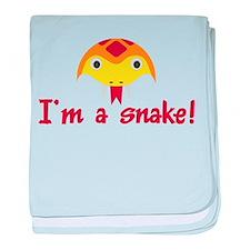 I'M A SNAKE baby blanket