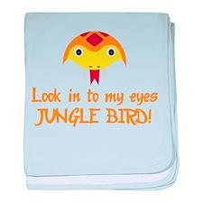 JUNGLE BIRD baby blanket