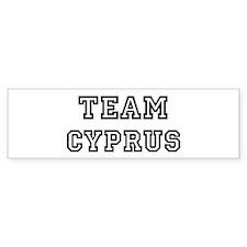 Team Cyprus Bumper Bumper Sticker