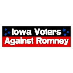 Iowa Voters Against Romney sticker