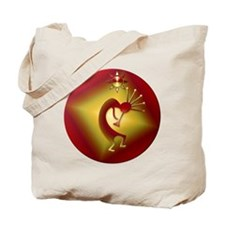 Bronze & Gold Kokopelli Tote Bag