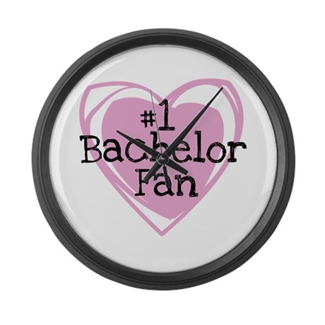 Number One Bachelor Fan Large Wall Clock