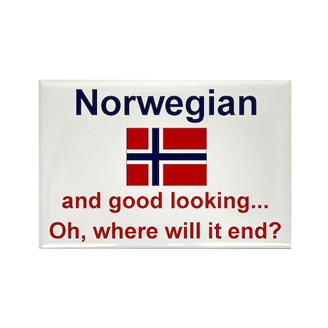 """Good Looking Norwegian Magnet (3""""x2"""")"""