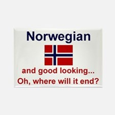 "Good Looking Norwegian Magnet (3""x2"")"