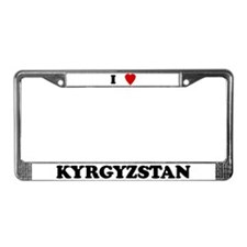 I Love Kyrgyzstan License Plate Frame