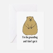 Groundhog doesn't get it Greeting Card