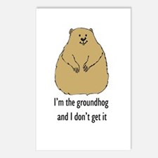Groundhog doesn't get it Postcards (Package of 8)