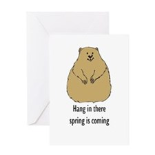 hang in there groundhog Greeting Card