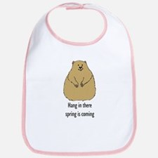 hang in there groundhog Bib