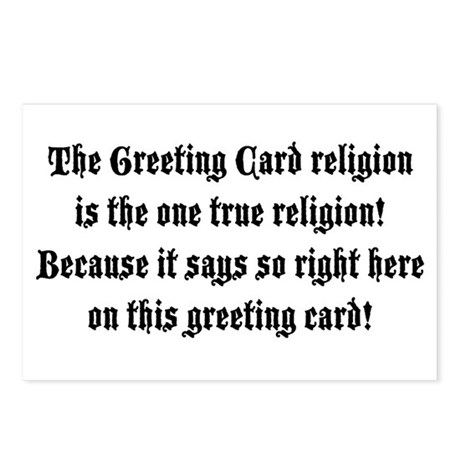 The One True Religion Postcards (Package of 8)