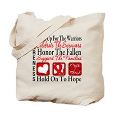 Heart Disease Honor Support Tote Bag