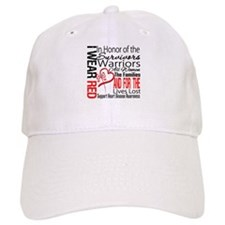 Heart Disease Tribute Ribbon Baseball Cap