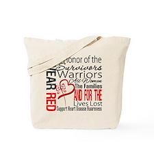 Heart Disease Tribute Ribbon Tote Bag
