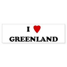 I Love Greenland Bumper Bumper Sticker