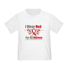 Heart Disease Red For Women T