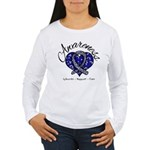 ALS Awareness Mosaic Women's Long Sleeve T-Shirt