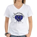 ALS Awareness Mosaic Women's V-Neck T-Shirt