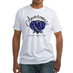 ALS Awareness Mosaic Fitted T-Shirt
