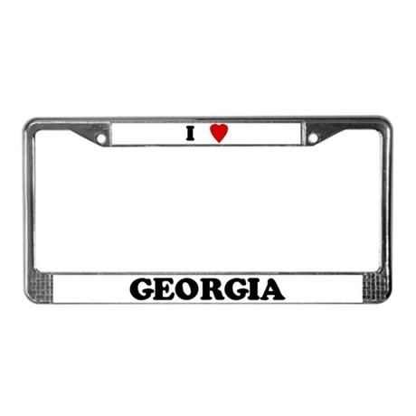 I Love Georgia License Plate Frame