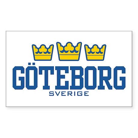 Goteborg Sverige Sticker (Rectangle)