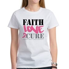 Faith Love Cure Breast Cancer Tee