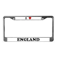 I Love England License Plate Frame