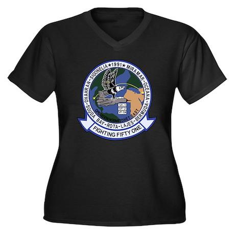 VF-51 Screaming Eagles Women's Plus Size V-Neck Da