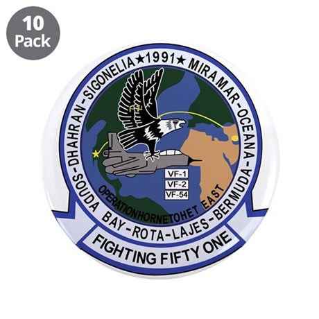 """VF-51 Screaming Eagles 3.5"""" Button (10 pack)"""