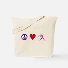 Peace Love Javelin Tote Bag