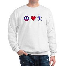 Peace Love Discus Sweatshirt