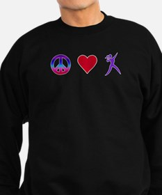 Peace Love Shot Put Sweatshirt (dark)
